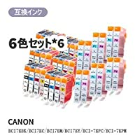 GMY canon キヤノン BCI-7E/6MP対応汎用インク 6色セット×6 計36個