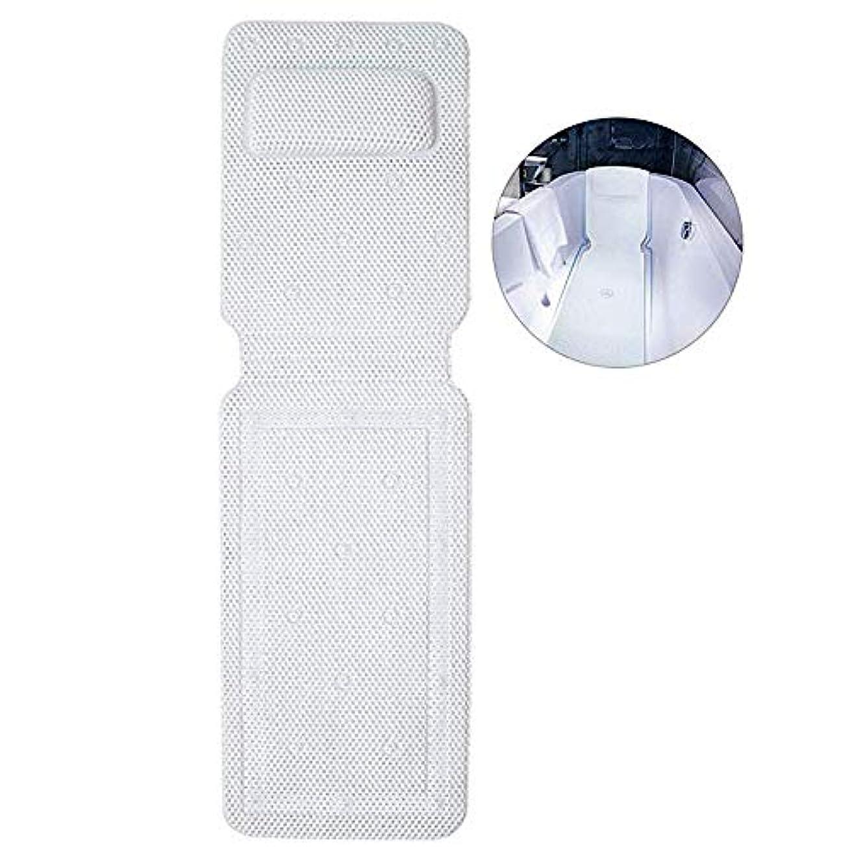 粒子ビクター一人でフルボディバスピローマット中空ポリ塩化ビニールフォームスパバスマット付きコンフォートヘッドレストと大型ノンスリップサクションカップ