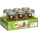 Ball Regular Mouth Jars, 473 ml Capacity, 6-Piece Set