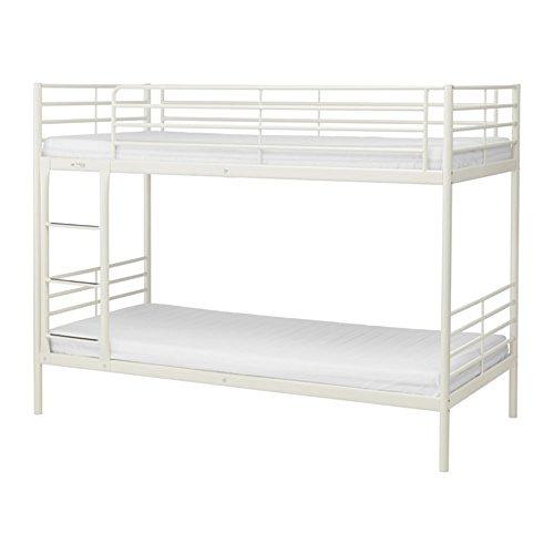 SVARTA:2段ベッドフレームすのこ付き90x200 cm ホワイト
