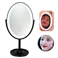 LEDライト付き化粧鏡 三色 学生 LEDポータブルポータブル化粧鏡ミラータッチスイッチ(3)