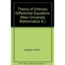 Theory of Ordinary Differential Equations (New University Mathematics)