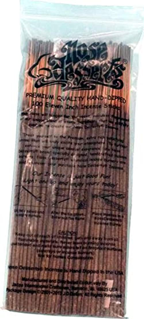 タブレットスイング微生物Nose Desserts ブランド プレミアム品質お香 OPIUMタイプ強烈な香水フレグランスの香り バルクパック 1パック約90~100本 長さ11インチのお香スティック各パッケージ