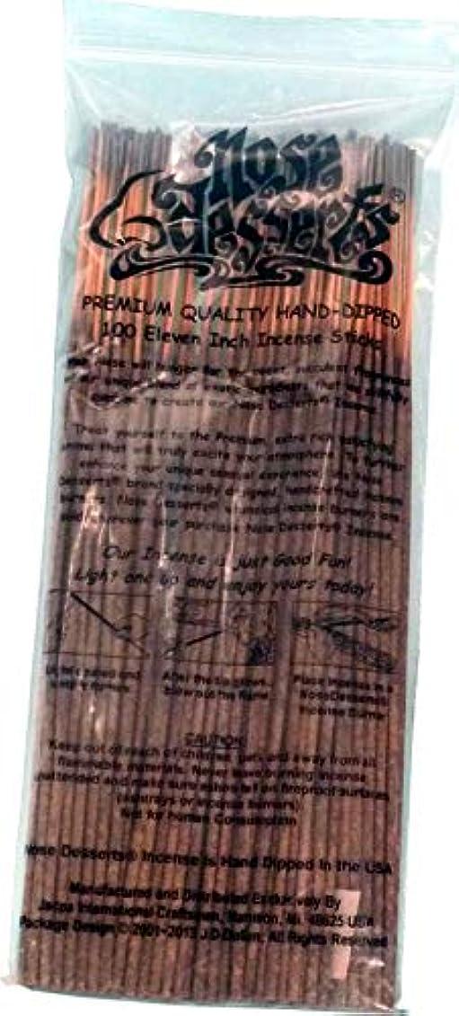 郵便屋さん鉱石有名なNose Desserts ブランド プレミアム品質お香 OPIUMタイプ強烈な香水フレグランスの香り バルクパック 1パック約90~100本 長さ11インチのお香スティック各パッケージ
