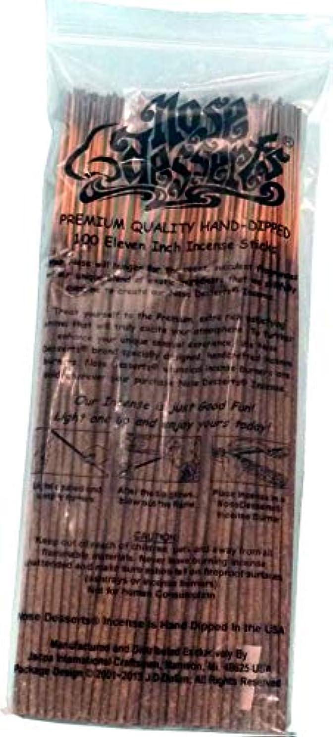 オーク記者転送Nose Desserts Brand プレミアム品質お香 バットネイキッドタイプ 強い香水フレグランスの香り バルクパック 1パック約90~100本 長さ11インチのお香スティック 各パッケージ