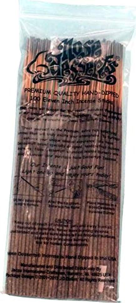 トーストで忌み嫌うNose Desserts Brand プレミアム品質お香 ピーチデリライトタイプ 強い香水フレグランスの香り バルクパック 1パック約90~100本 長さ11インチのお香スティック 各パッケージ