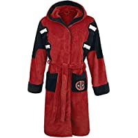 Official Marvel Deadpool Fleece Adult Dressing Gown Bathrobe - One Size