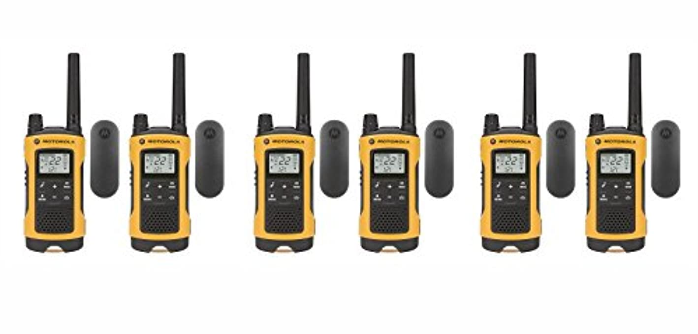 認可スパイラルにもかかわらずモトローラ Talkabout T402 FRS/GMRS 双方向無線機 6個パック