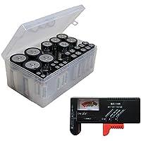 バッテリーOrganizer andテスターバンドルIncludes AA、AAA、C & Dバッテリーストレージボックスwithバッテリーテスター