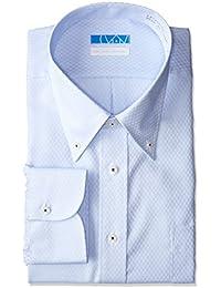 [ドレスコード101] スマシャツ 洗って干してそのまま着る メンズ ノーアイロン ワイシャツ 長袖 形態安定 綿100% シャツ EATO22