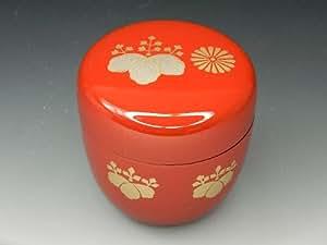 中棗 高台寺蒔絵 朱塗 樹脂製 日本製 茶道具