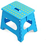 MEIGUIshop Stool-Multifunctional Folding Portable Stool Portable Stool (Color : Blue, Size : 29 * 23 * 27CM)