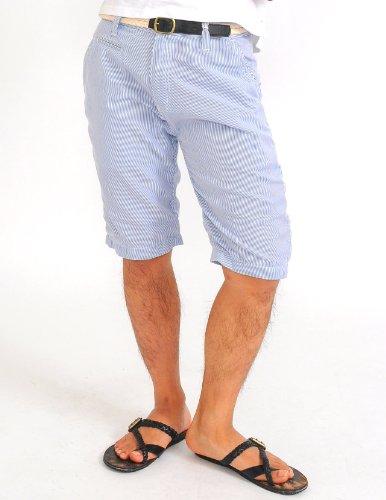 ショートパンツ メンズ ベルト付き ストライプ ショーツ ハーフパンツ 【w104】 スペード