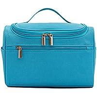 トラベルストレージバッグ女性防水メンズポータブル化粧フックウォッシュバッグ (色 : 青)