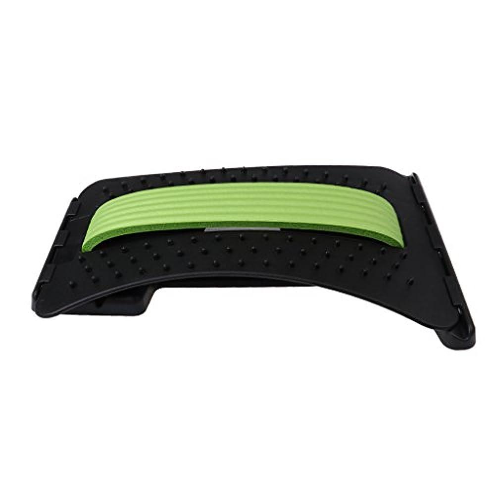 抹消観点雨バックストレッチャー ABS製 リラックス ストレス解消 3色選べる - 緑