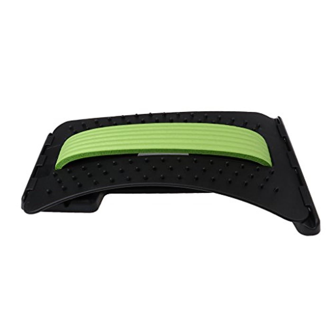 分布障害マンハッタンKesoto バックストレッチャー ABS製 リラックス ストレス解消 3色選べる - 緑