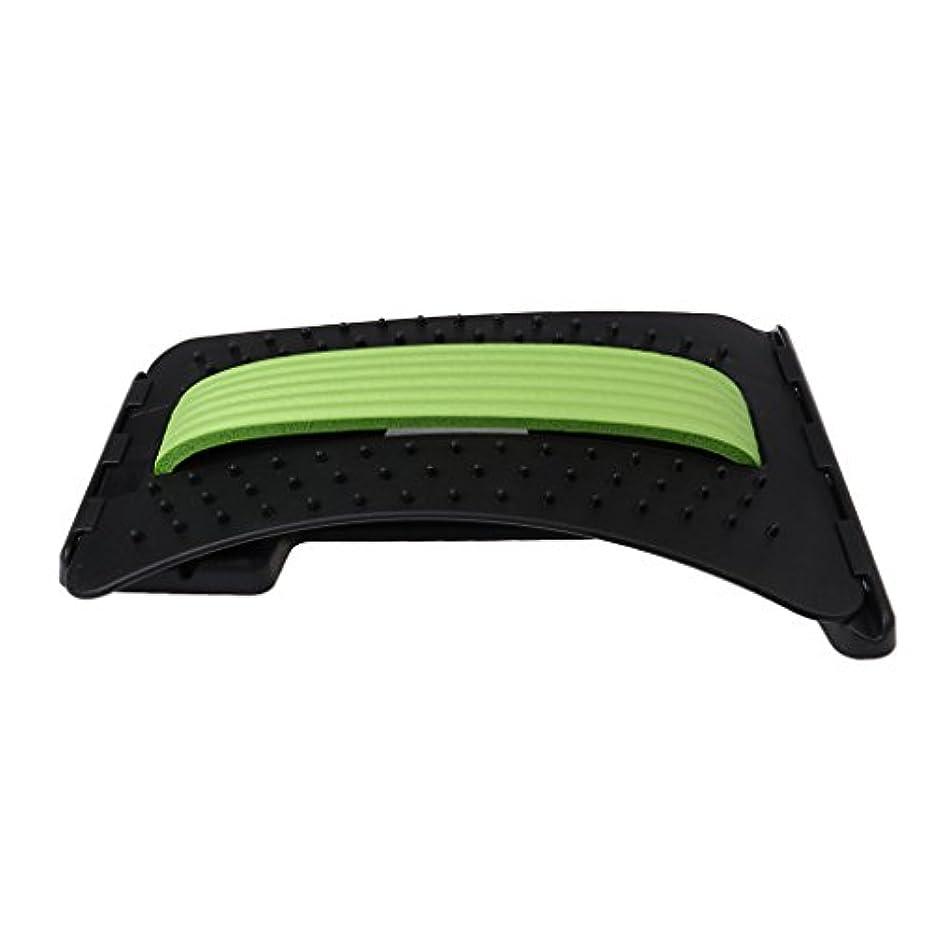 放つ宣言悪いバックストレッチャー ABS製 リラックス ストレス解消 3色選べる - 緑