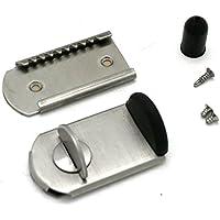 日本ロックサービス ファスナーロック サッシ用窓防犯錠 FN-467 シルバー カギなし