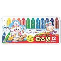 Amos Premium Non-toxic Silky Crayon Pasnet 12 Colors 非毒性、滑らかなクレヨン(海外直送)