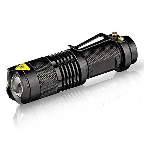 【超お得な5個セット】Vahulawa 超小型・軽量 高輝度LED懐中電灯 強力 防災 防犯 釣り Q5 LED ハンディライト ズーム機能付き