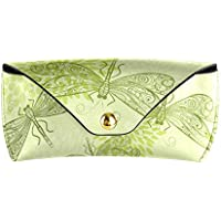 Glasses Case Green Dragonflies And Flowers Sunglasses Case Eyeglass Cases for Women and Men