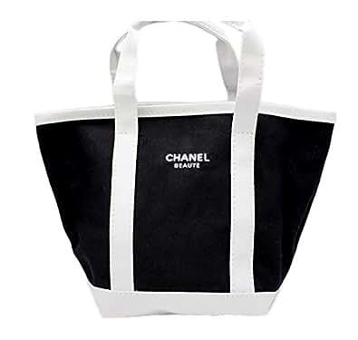 【CHANEL】シャネル トートバッグ (小サイズ) ブラック×ホワイト