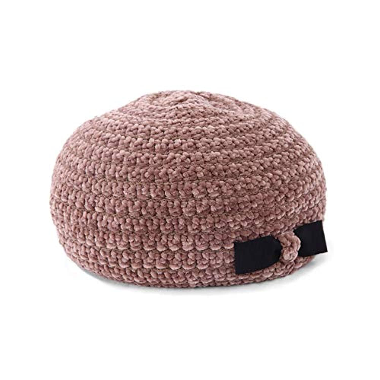 毛糸なのにもちもち?デッドストックモール糸のベレー帽(18AWS-010)