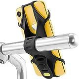 Bone Bike Tie 2 自転車 スマホ ホルダー 全シリコン製 超軽量 脱着簡単 脱落防止 4-6.5インチのスマホに対応 iPhone 11 Pro Max XS XR X 8 7 6S Plus Xperia ZX3 Galaxy S10 S9 S8 note 9 Pixel 3 XL TorqueG03 / ハンドル型(ブラック)