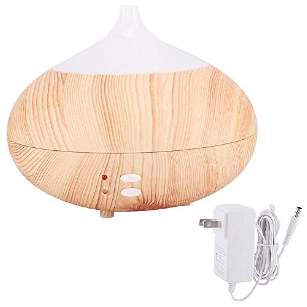 リスナー硬さビンアロマエッセンシャルオイルディフューザー300ミリリットル木製クールミスト加湿器寝室リビングルーム研究ヨガスパ(100?240V)