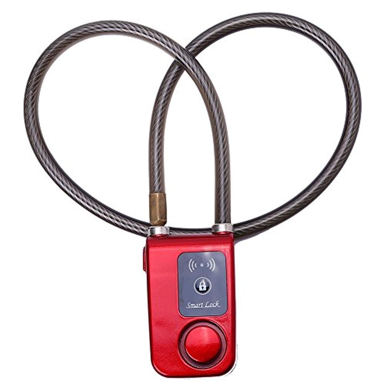 道を作るコンテストキャリアVbestlife 自転車スマートアラーム Bluetoothロック アプリコントロール 盗難防止アラームチェーンロック 105dBアラーム付き