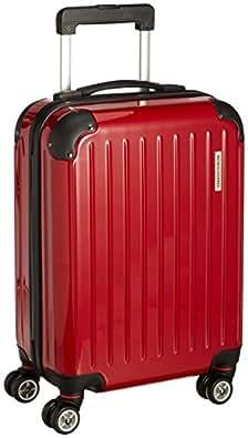 [ワールド ホッパー] WORLD HOPPER 【Amazon.co.jp限定】 スーツケース 47cm 26L 3.2kg 機内持込サイズ 双輪キャスター TSAロック搭載(レッド)