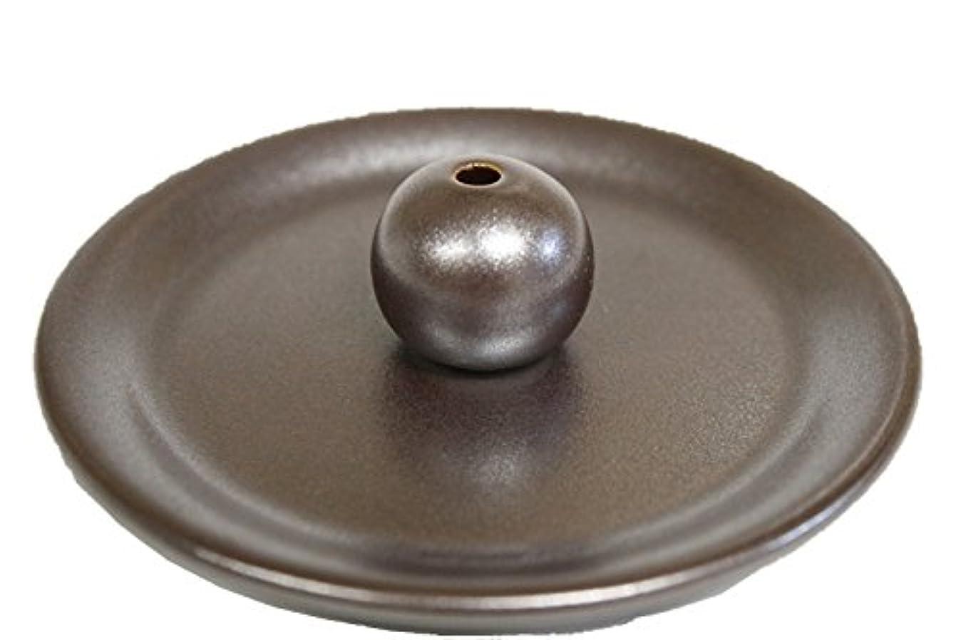 相手広範囲下に向けます9cm香皿 鉄器色 美濃焼 お香立て お香たて 陶器 製造?直売品