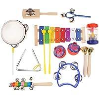 KESOTO 全10種 子ども リズム 楽器おもちゃ 木琴 タンバリン など 音楽玩具 ギフト