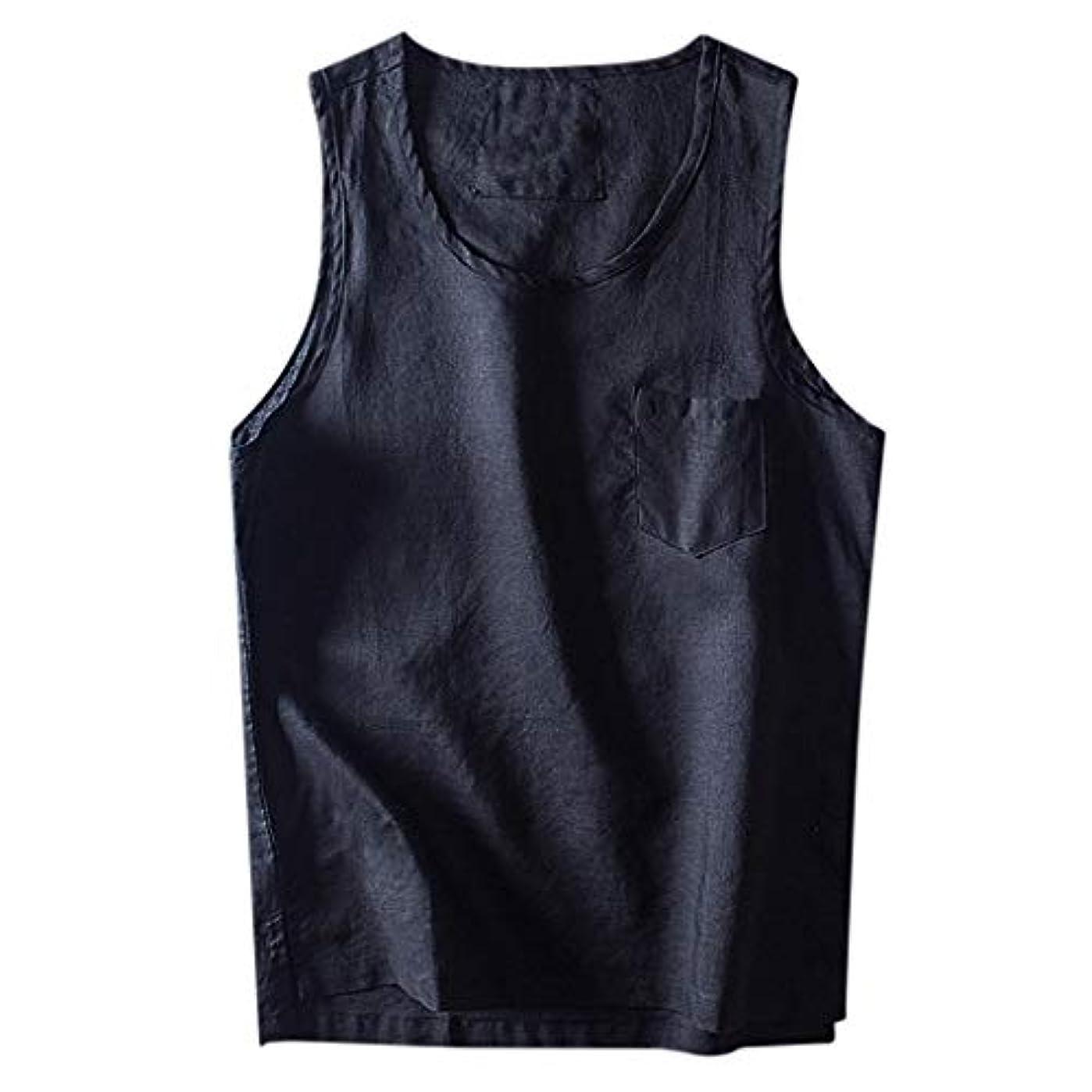 買い手あそこ連隊Wyntroy メンズトップス 和風 ノースリーブ 単色 メンズシャツ スポーツウェア 男達ジムフィットネス トップス 綿麻 スポーティー シャツ ランニング ジョギング シャツ 夏秋 トレーニング スーツ