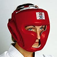 ProForceレッドビニールFull Faceボクシング/ MMA Headgear by Pro Force