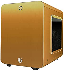 RAIJINTEK METIS PLUSシリーズ キューブ型アルミニウム製Mini-ITXケース 0R200059 (METIS PLUS GOLD)