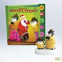 qxg4729Where 's Santa 's Stuff ?Seek & FindアドベンチャーInteractiveオーナメントとセットBook 2011ホールマーク記念品Magicオーナメント