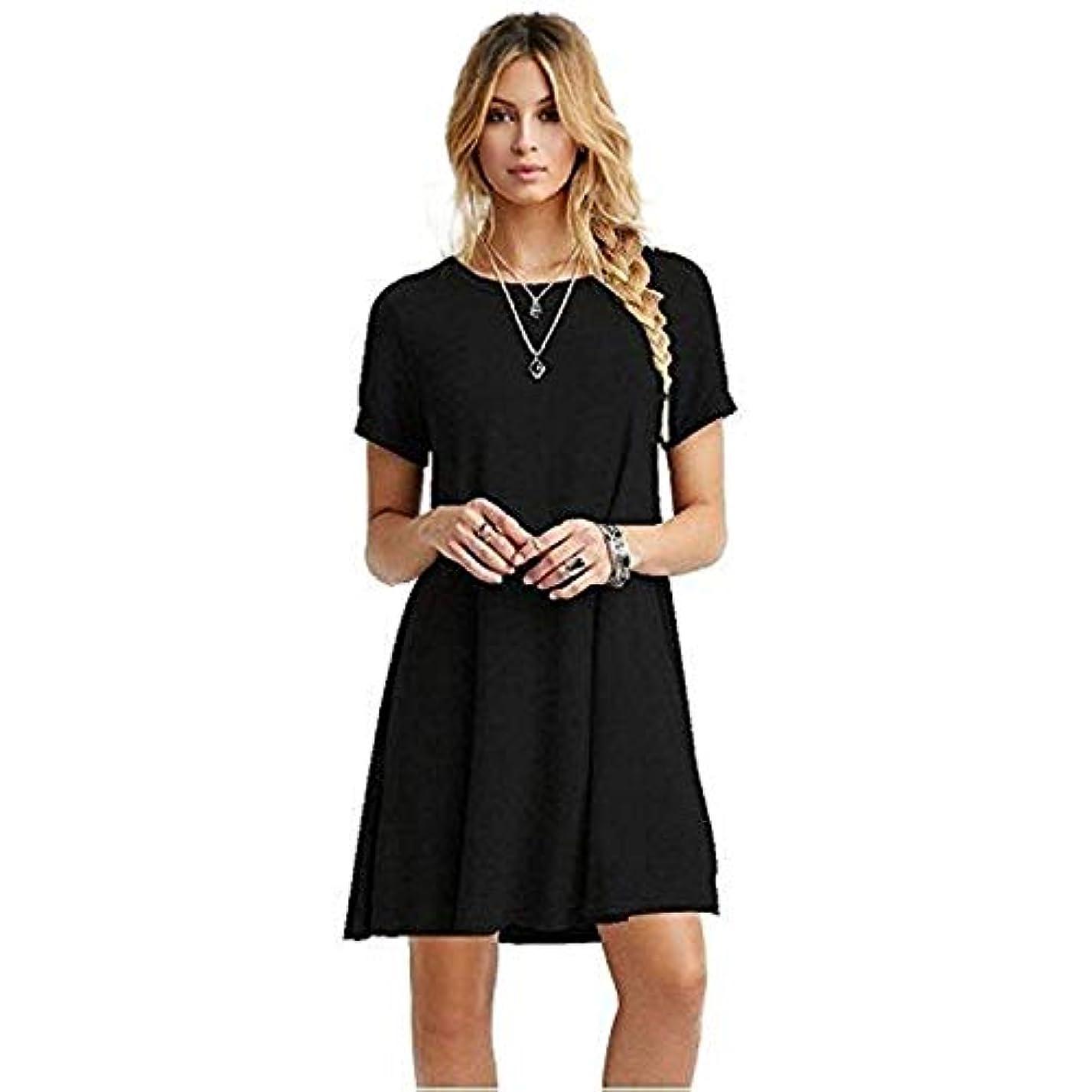 トライアスロン段階アレルギーMIFAN女性のファッション、カジュアル、ドレス、シャツ、コットン、半袖、無地、ミニ、ビーチドレス、プラスサイズのドレス