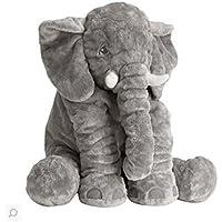 Seacan 象 ぬいぐるみ ぞう おもちゃ 抱き枕 動物 おもしろ クッション ベビー 寝抱き枕 子供/出産お祝い 贈り物 アフリカゾウ象 かわいい 60cm グレー