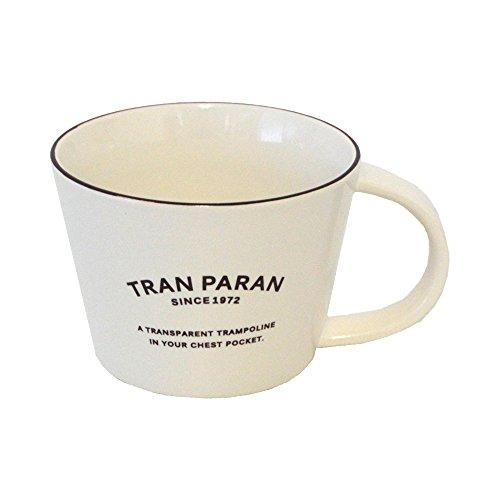 TRANPARAN マグカップ 瀬戸焼 陶器 半磁器 日本製 (ホワイト)