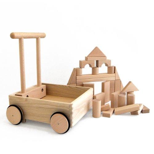 木のおもちゃ KOIDE K-25 押し車積み木
