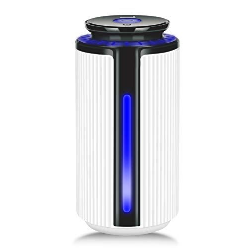 Eson 加湿器 卓上加湿器 静音 900ml大容量 空焚き防止機能 7色変換LED搭載 ミニLEDライト使えてナイトライフに変身し 長時間連続稼働 部屋/オフィスで使え 持ち運び便利 乾燥/花粉症対策 省エネ (白)