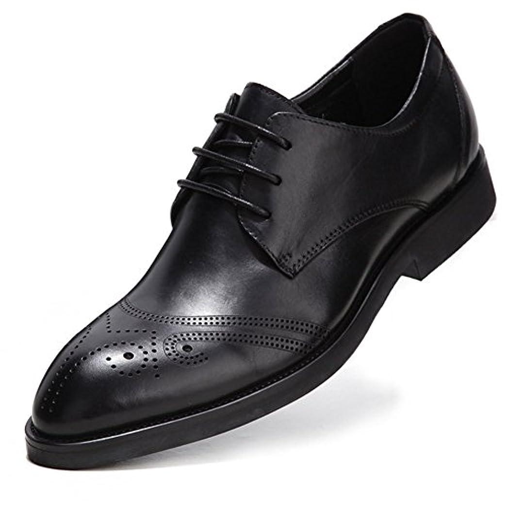 国勢調査ようこそゴミMAZU ビジネスシューズ メンズ ウイングチップ 本革 外羽根 ストレートチップ 革靴 リーガル 黒 紳士靴 ドレスシューズ 軽量 防滑 通気性