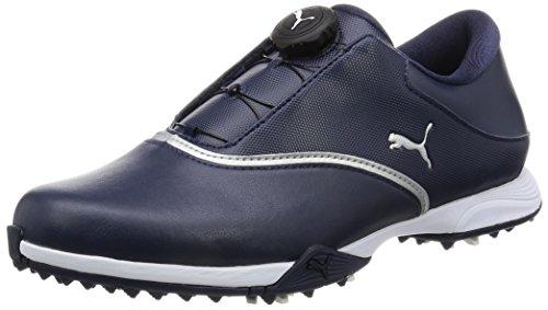 [プーマゴルフ] ゴルフシューズ PG ブレイズ ディスク 189421 02 ピーコート/プーマ シルバー/プーマ ホワイト 23.5