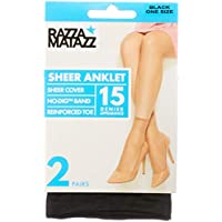 Razzamatazz Women's Pantyhose 15 Denier Value Anklets (2 Pack)