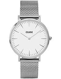 [クルース]CLUSE 腕時計 ウォッチ 38mm シンプル La Boheme メッシュベルト CL18105 シルバー レディース [並行輸入品]