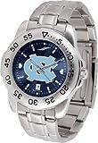 NCAAチームロゴステンレススチールメンズ腕時計