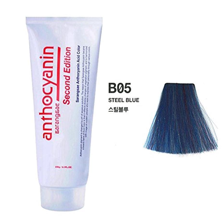差別的醸造所年齢ヘア マニキュア カラー セカンド エディション 230g セミ パーマネント 染毛剤 (Hair Manicure Color Second Edition 230g Semi Permanent Hair Dye) [並行輸入品] (B05 Steel Blue)