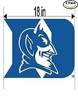 DukeブルーDevils UniversityビニールステッカーデカールロゴNCAA 2ウィンドウステッカー18インチ