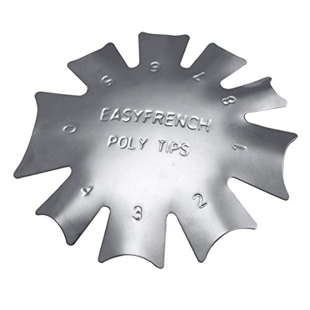 強盗凍結存在する3ピース/セット丈夫な金属ステンレス鋼フレンチマニキュアモデリング整形プレートクリスタルネイル作りスタンピングプレート